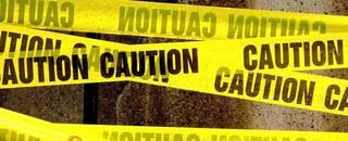 Caution banner