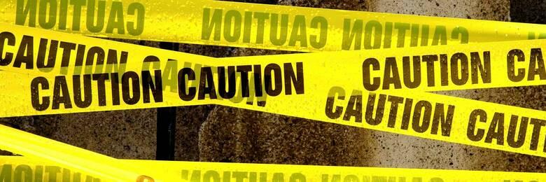 Yellow caution tape.