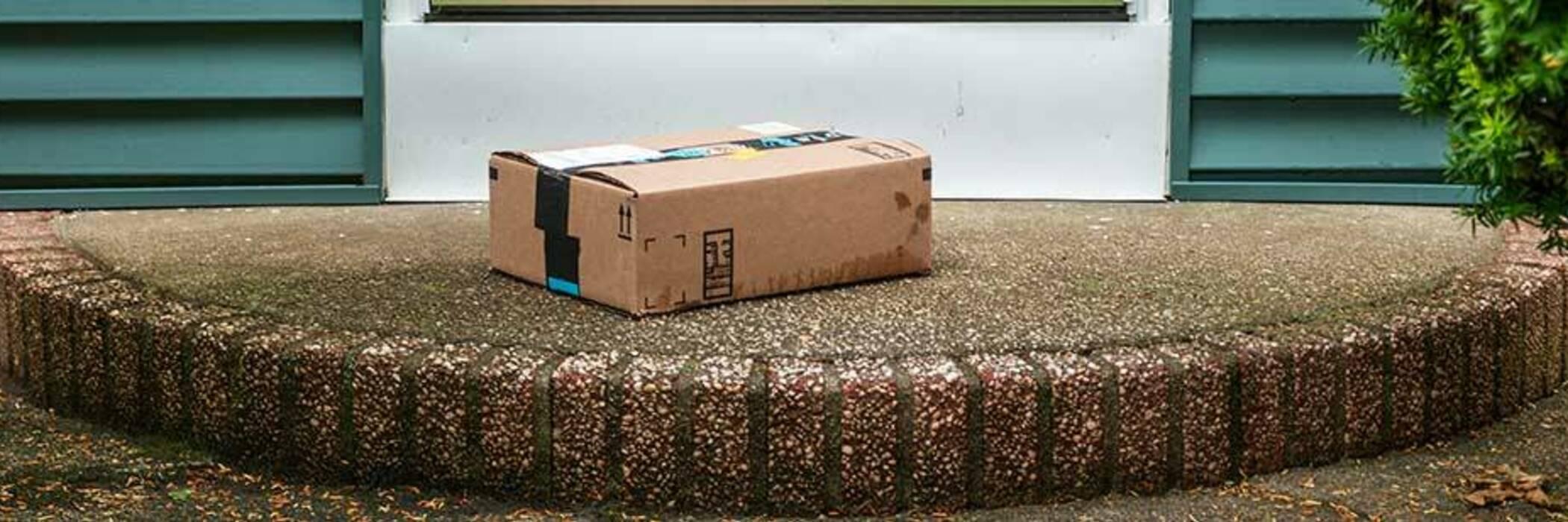 Parcel left on doorstep.