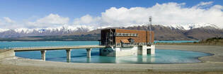 Lake Pukaki hydro power station