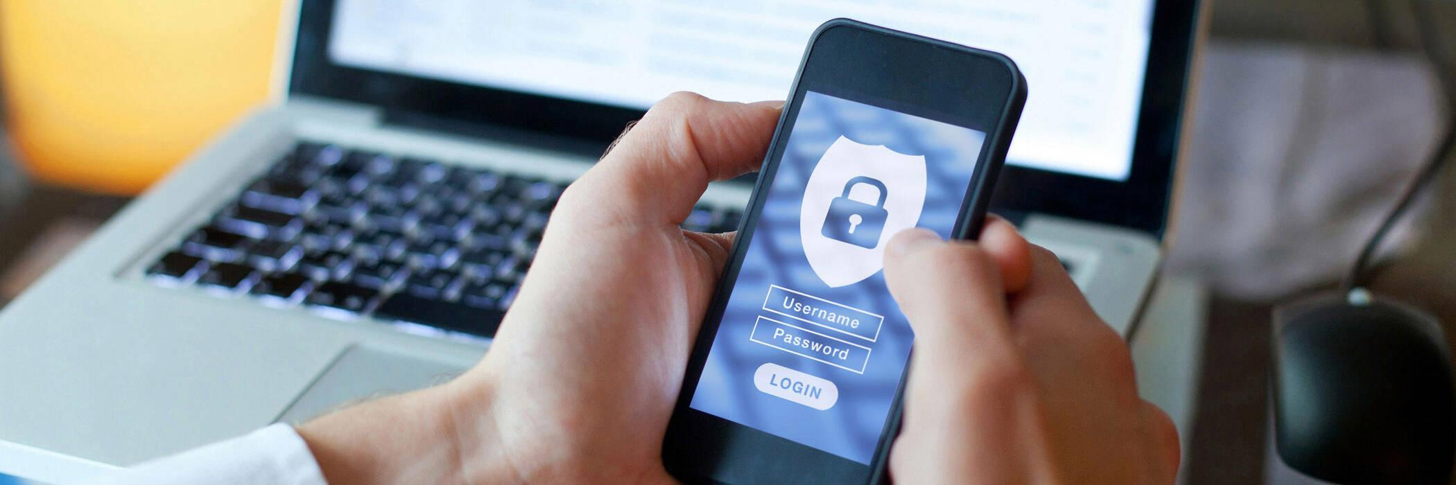 Data security phone log in