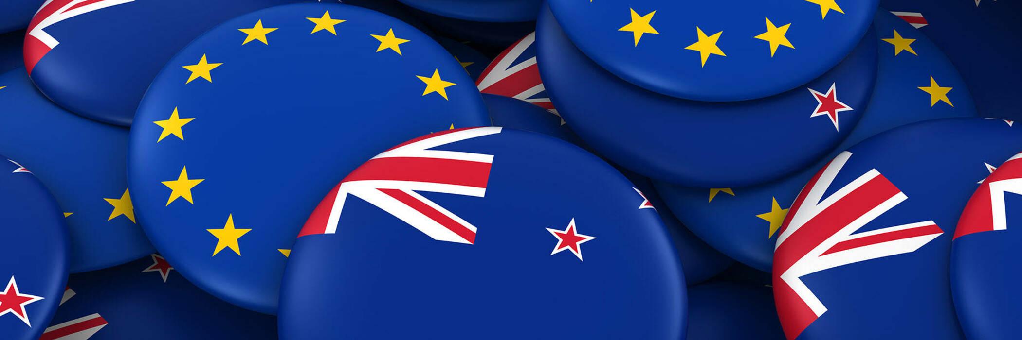 EU-NZ flag badges