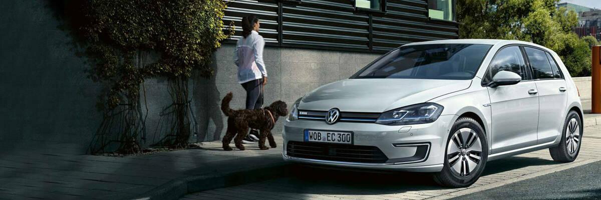 VW e-Golf parked on street