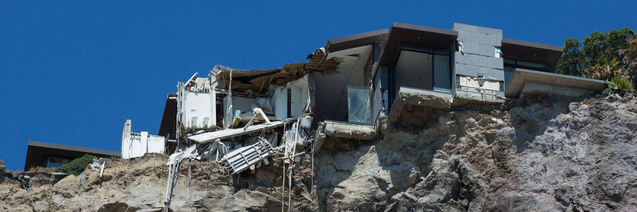 Home damaged by earthquake