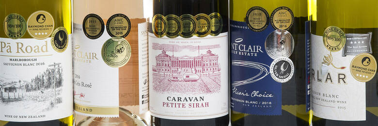 Wine award labels
