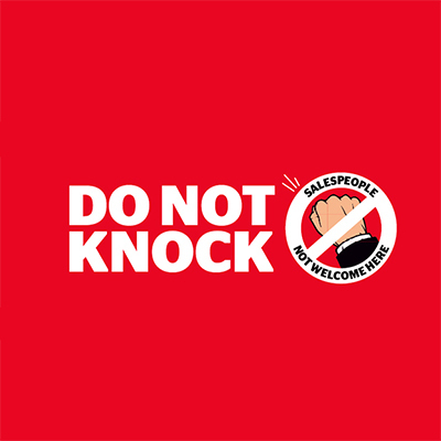 High Demand For Quot Do Not Knock Quot Stickers Consumer Nz
