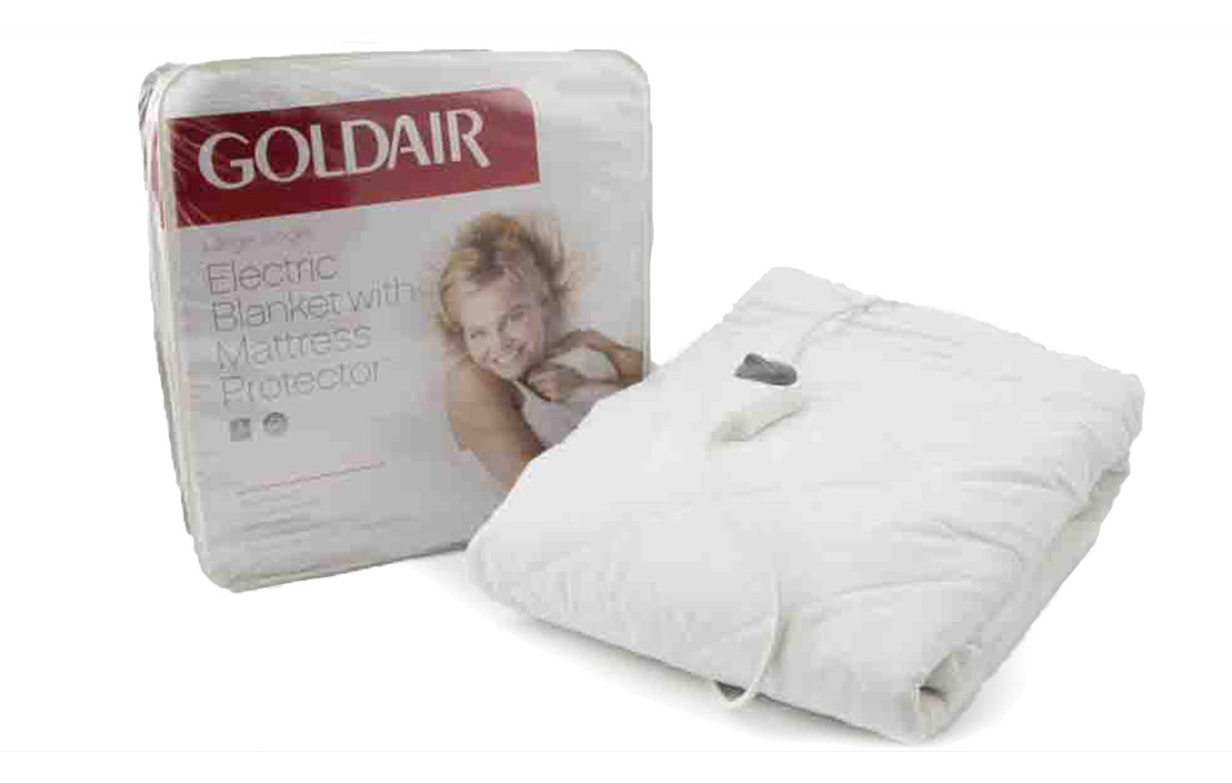 2 goldair large single electric blanket with mattress protector gub ls 1