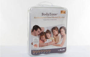 BodyZone Antibacterial Fitted Heated Blanket BZB437WHT Queen