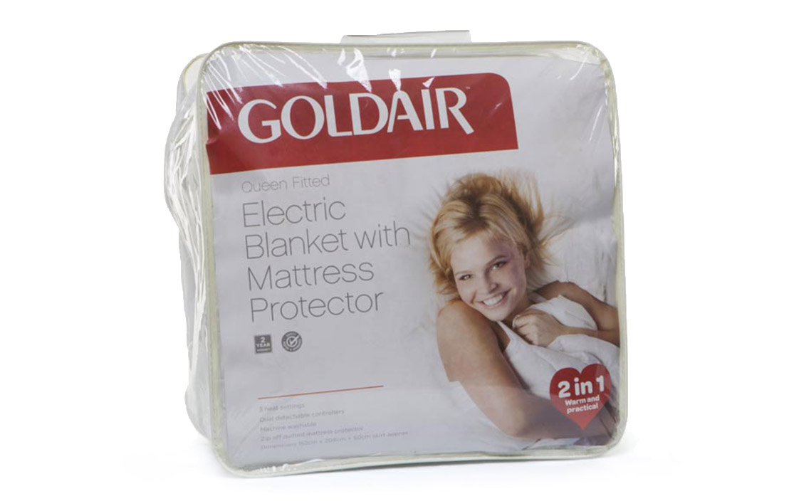 3 goldair electric blanket with mattress protector gub q 1