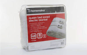 Queen Bed Zoned Electric Blanket TTS-2X60D