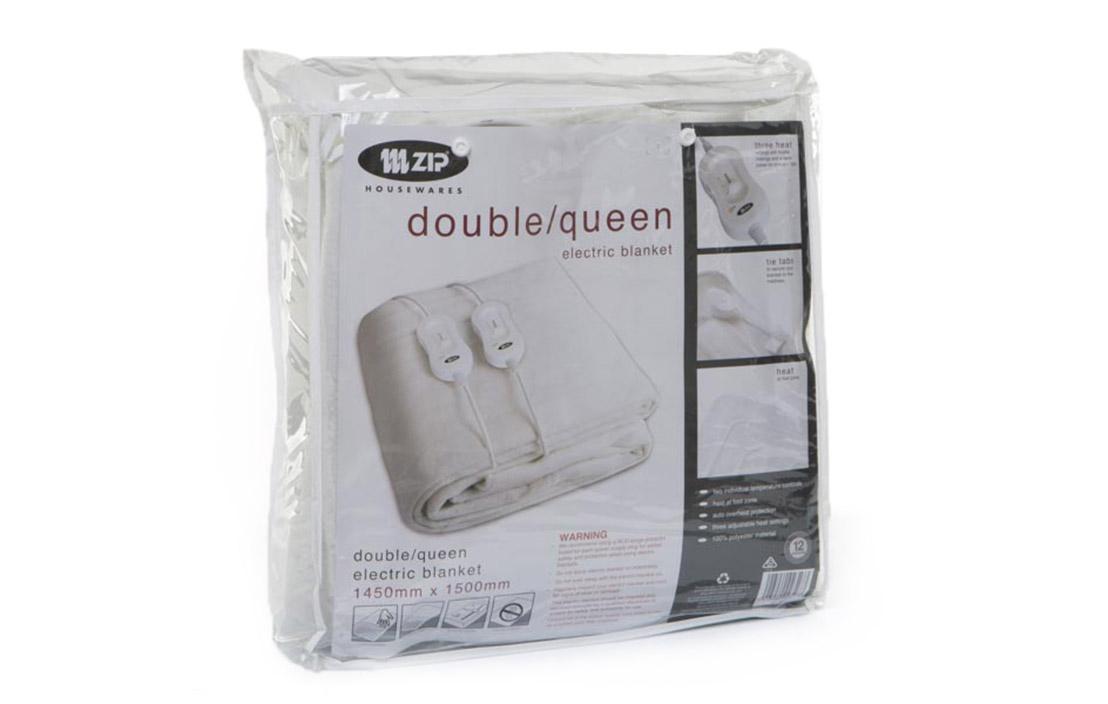 8 zip double queen electric blanket zip 9031