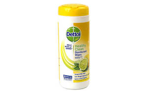 Healthy Clean Disinfectant Wipes Sparkling Lemon & Lime