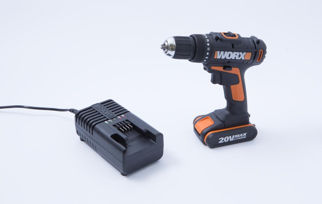 Worx Lithium Ion Drill 20 Volt Orange WX166.1