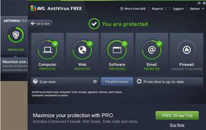AntiVirus Free + Windows 10 Firewall