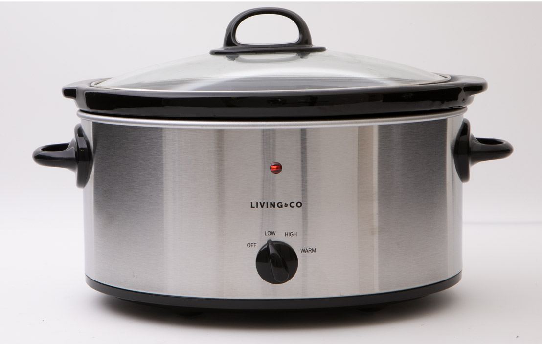 Living & Co 5.7L Slow Cooker Stainless Steel 240W