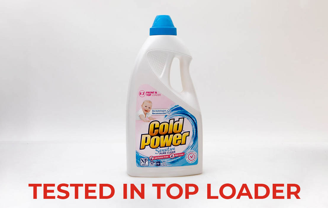 Cold power pure clean sensitive liquid top loader test