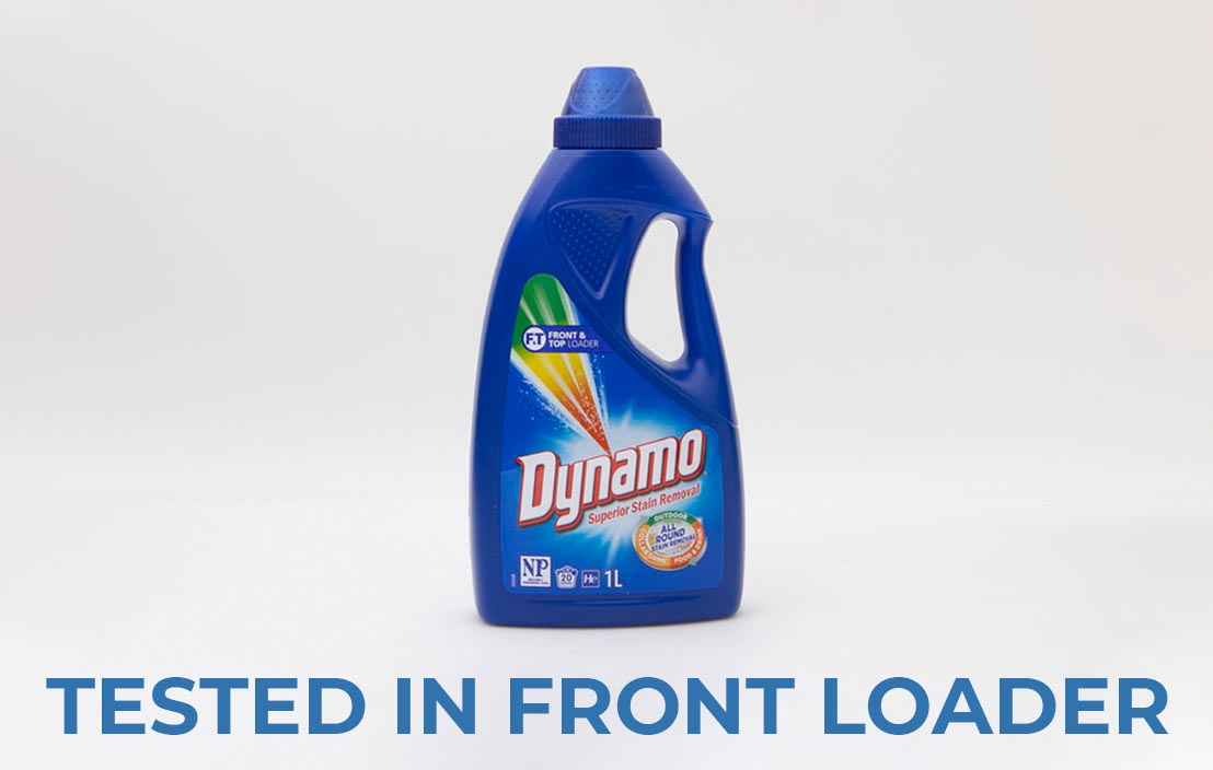 Dynamo superior stain removal liquid front loader test
