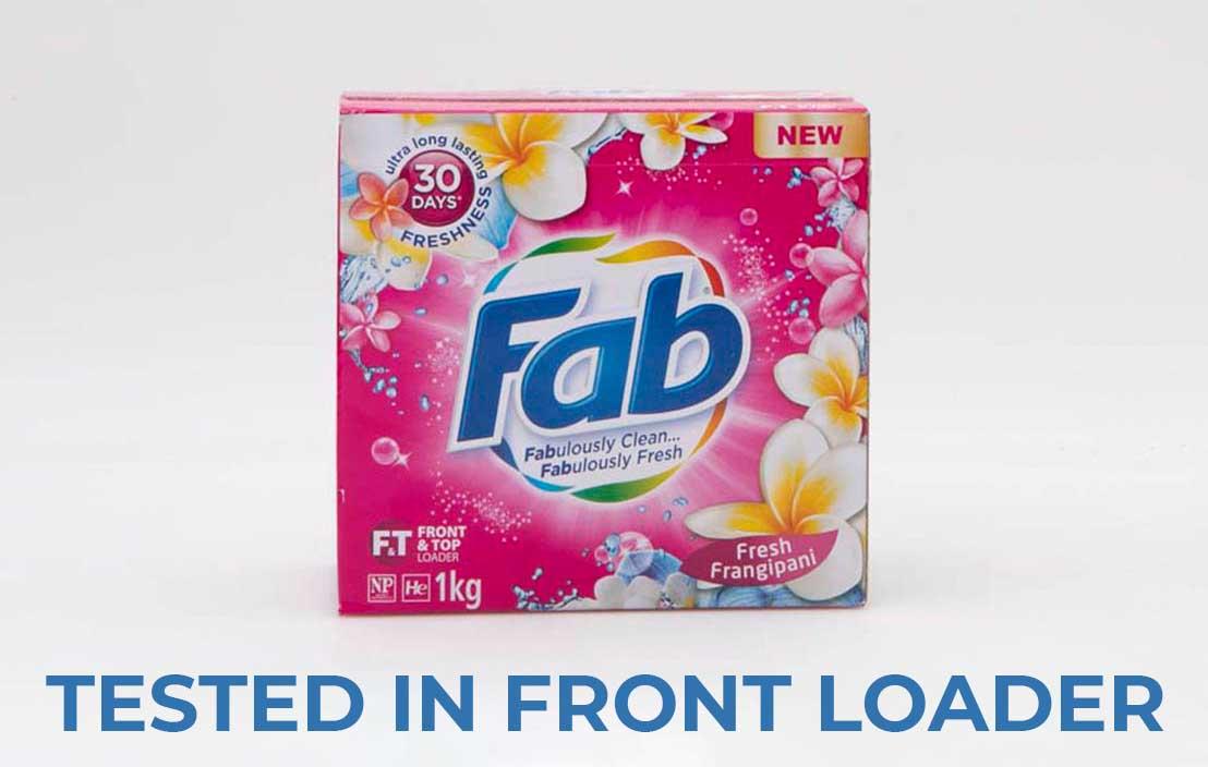 Fab fresh frangipani powder front loader test