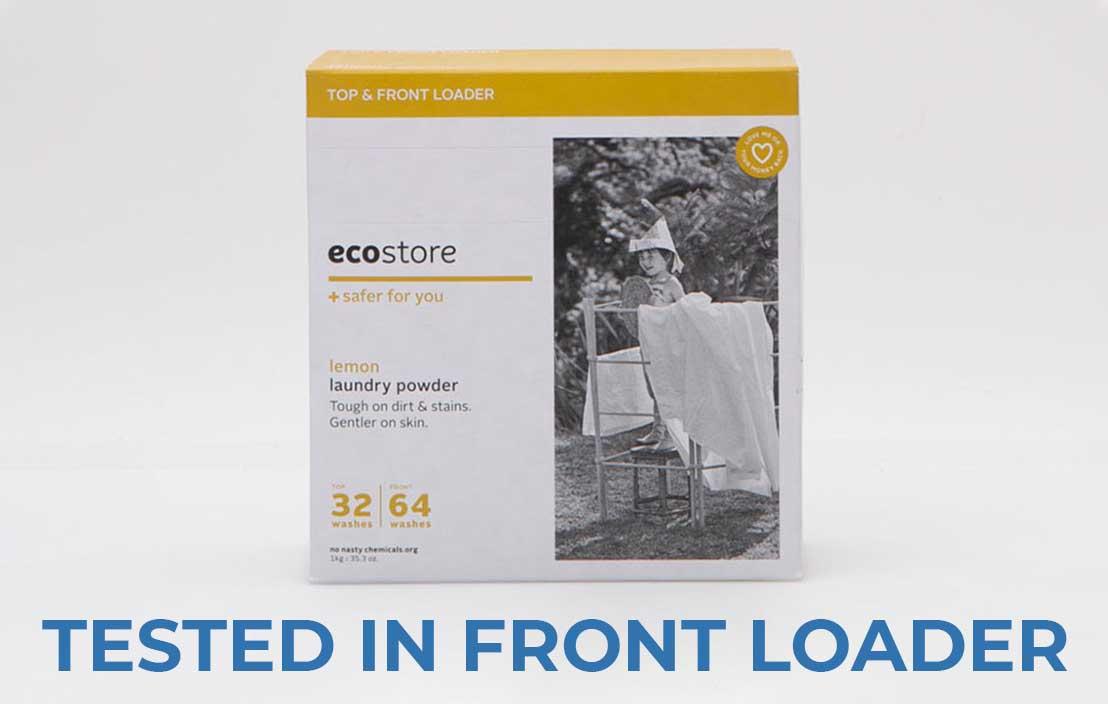 Ecostore lemon laundry powder front loader test