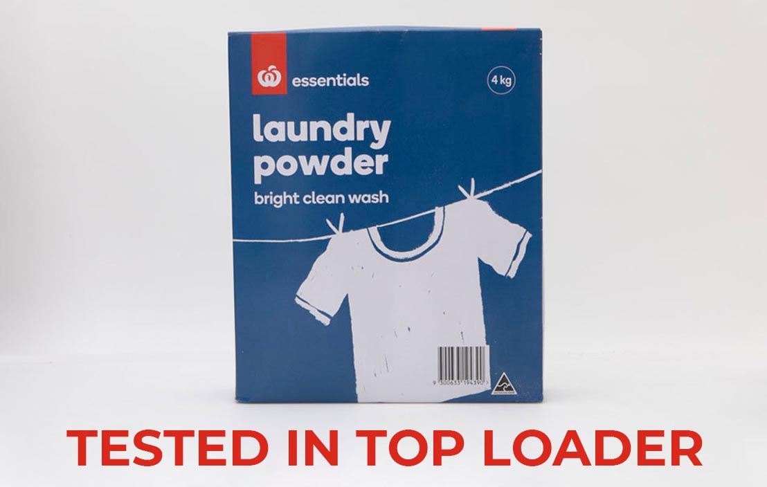 Woolworths essentials laundry powder top loader test