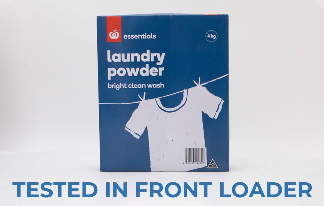 Woolworths essentials laundry powder front loader test