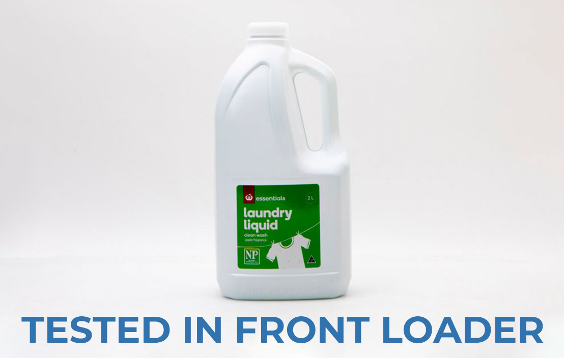 Woolworths essentials laundry liquid clean wash apple fragrance front loader test