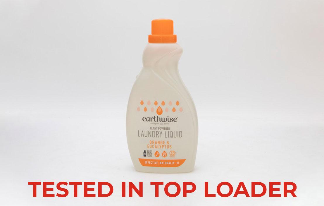 Earthwise orange and eucalyptus liquid top loader test