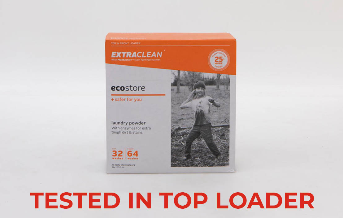 Ecostore extra clean powder top loader test