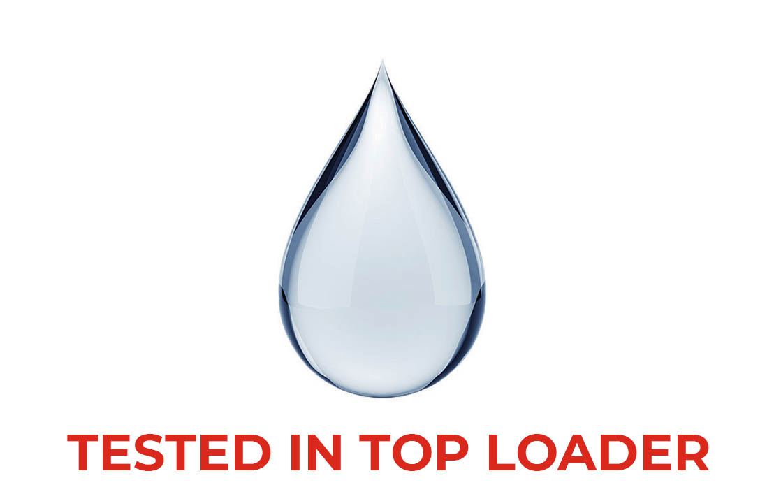 Water Tested in top loader