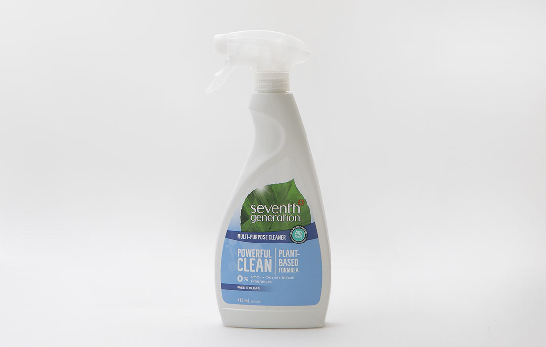 Seventh generation multi purpose cleaner powerful clean free   clear