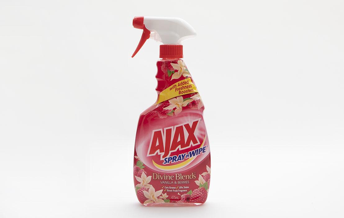 Ajax spray n wipe multipurpose divine blends vanilla   berries