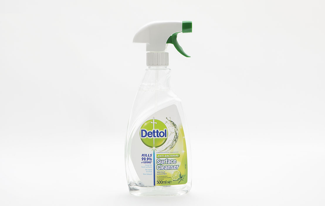 Dettol anti bacterial surface cleaner lime   mint