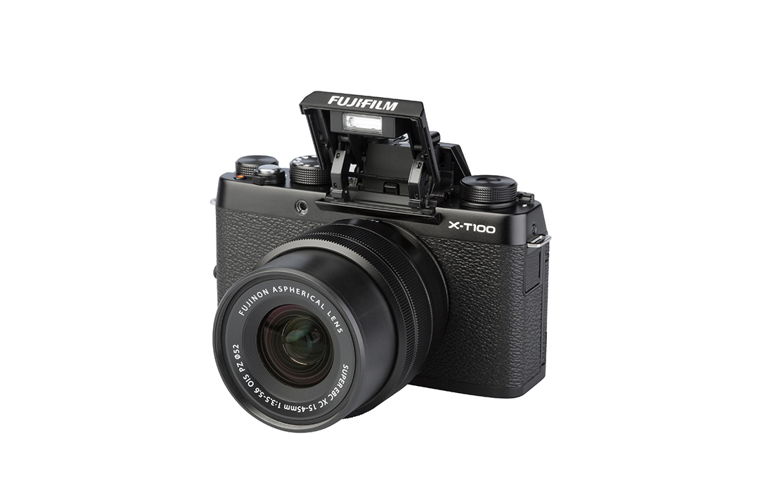 Fujifilm X-T100 (with 15-45mm lens)