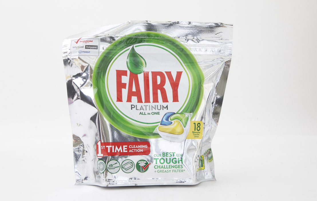 Fairy Platinum All in one dishwasher capsules lemon