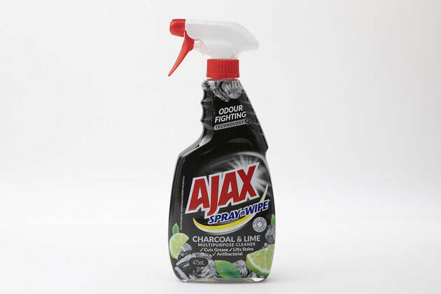 Ajax Spray n' Wipe Multi-Purpose Cleaning Charcoal & Lime