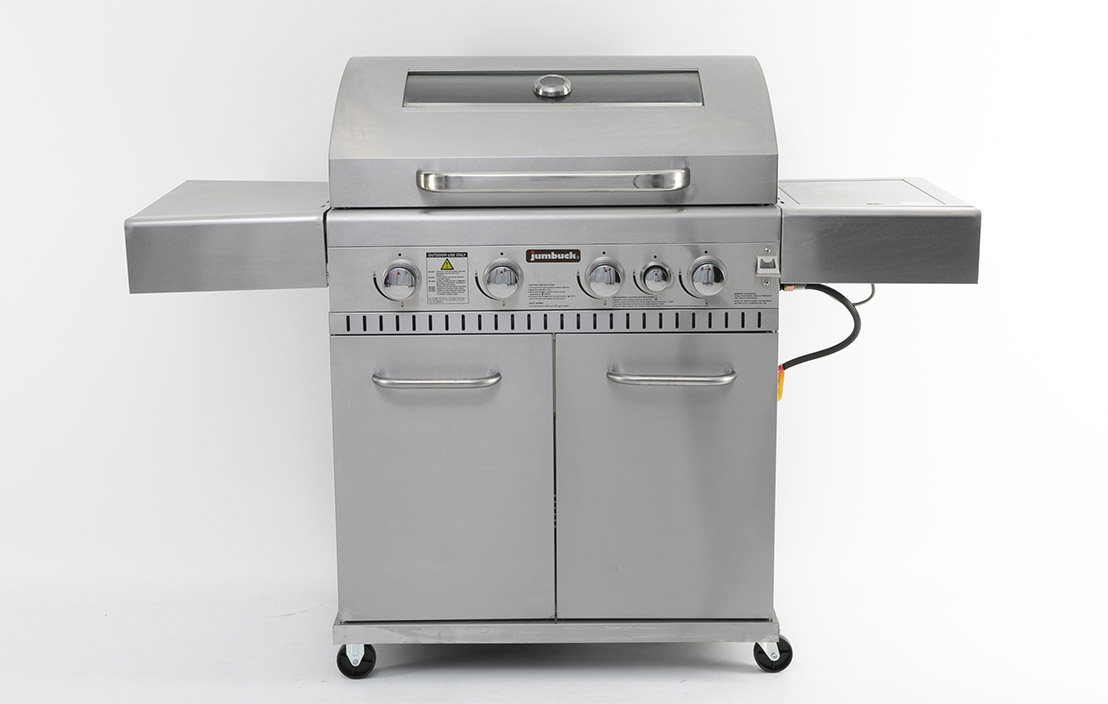 Jumbuck 4 Burner Hooded Comet Plus BBQ with Side Burner