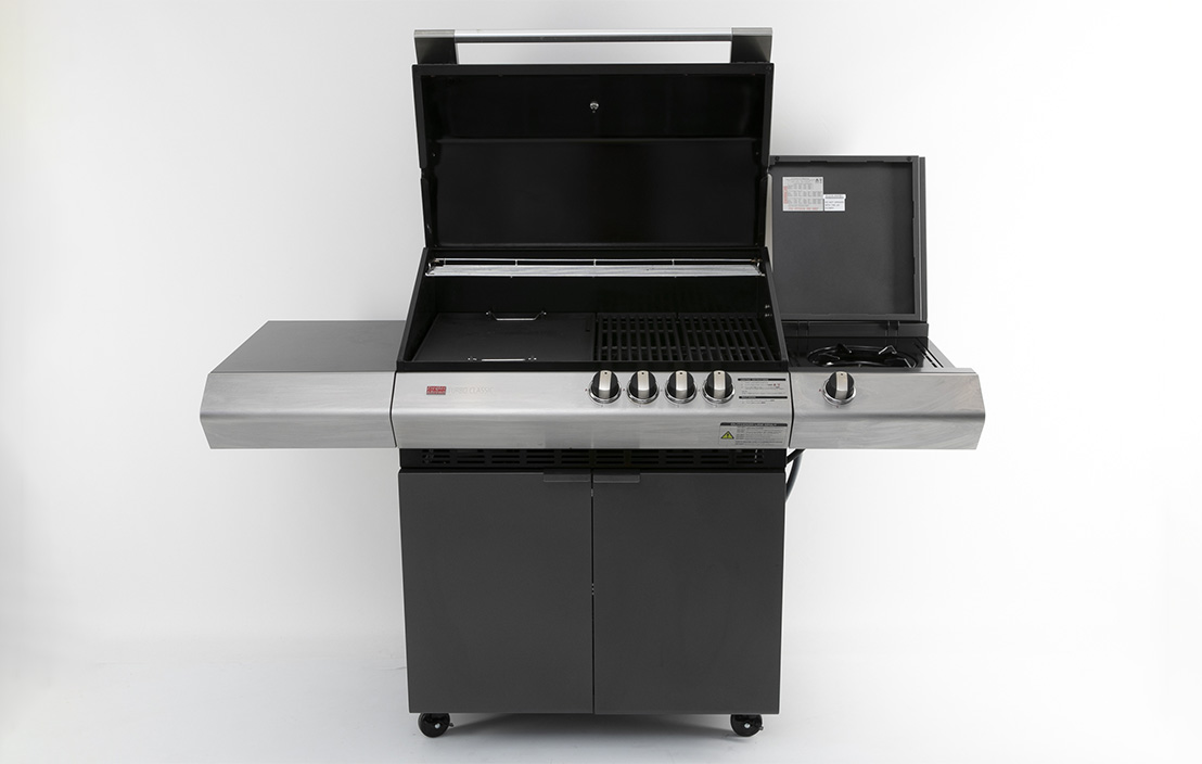 Ziegler & Brown Turbo Classic 4 Burner on Side Burner Cart