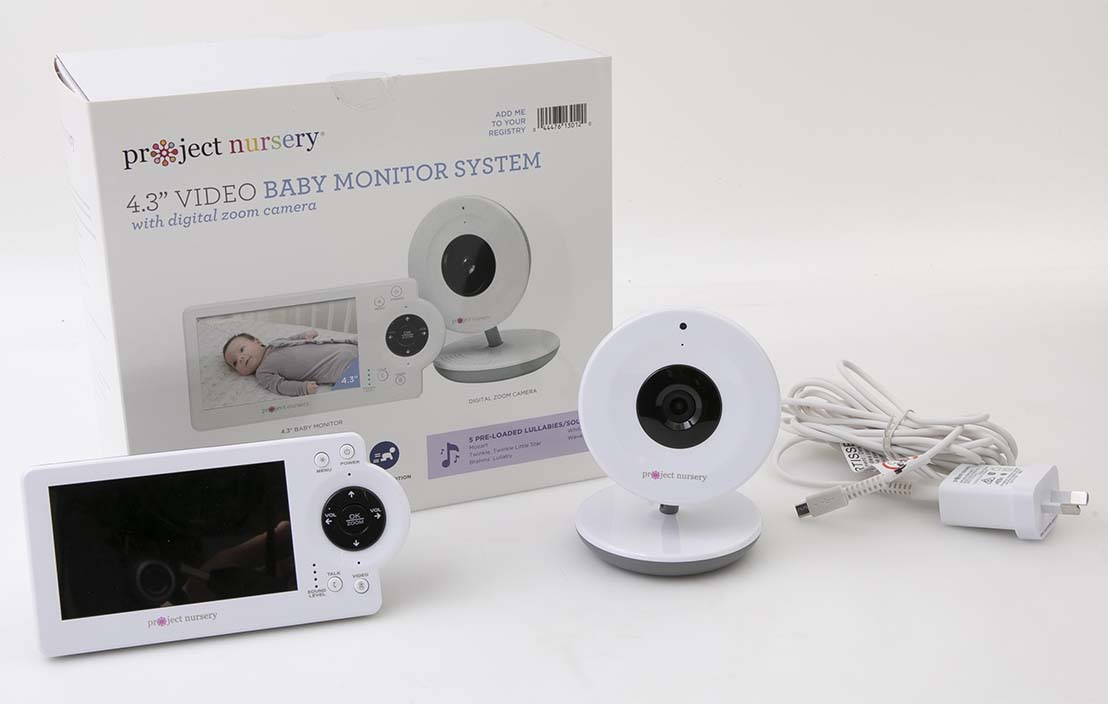 "Project Nursery 4.3"" Video Baby Monitor System PNM4N11"