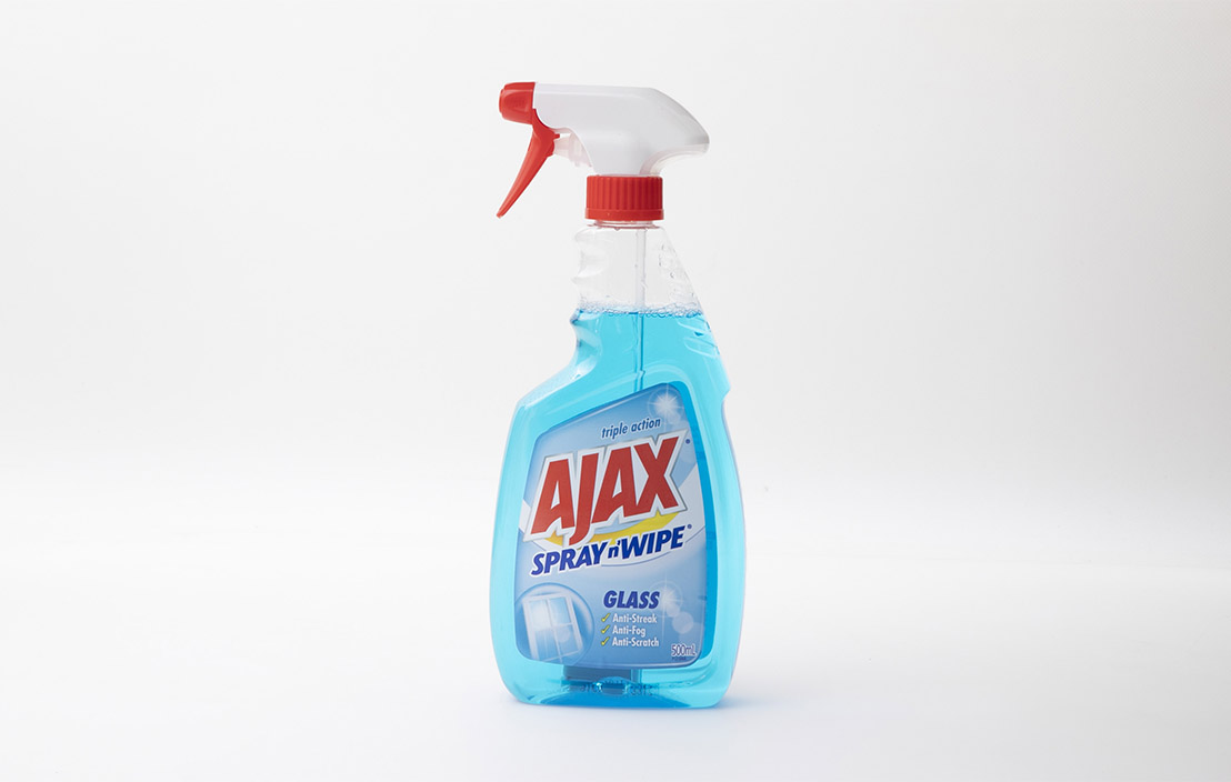 Ajax Spray n' Wipe Glass Triple Action Ammonia Free