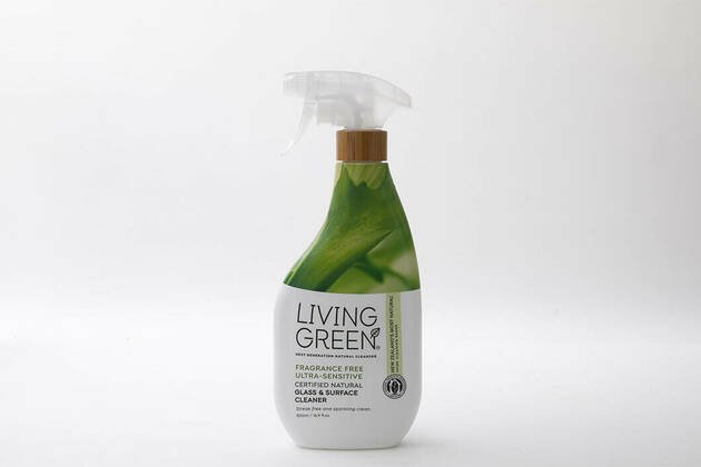 Living Green Fragrance-free Ultra-sensitive Certified Natural Glass & Surface Cleaner