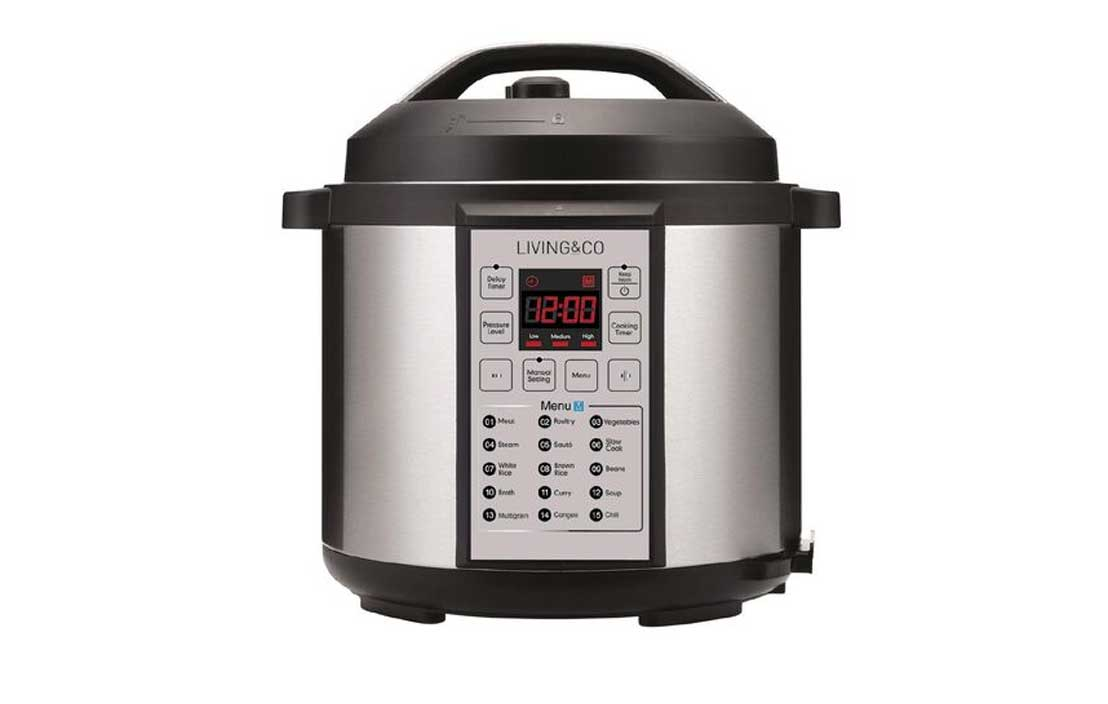 Living & Co Digital Pressure Cooker 6L LPC6SS