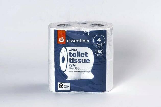 Essentials White toilet tissue (12 rolls)