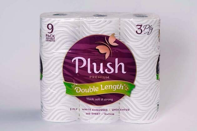 Plush Premium toilet tissue double-length (9 rolls)