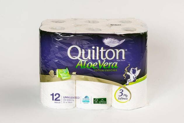 Quilton Aloe vera lotion enriched (unscented) (18 rolls)