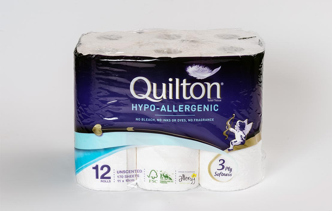 Quilton Hypo-allergenic unscented (12 rolls)