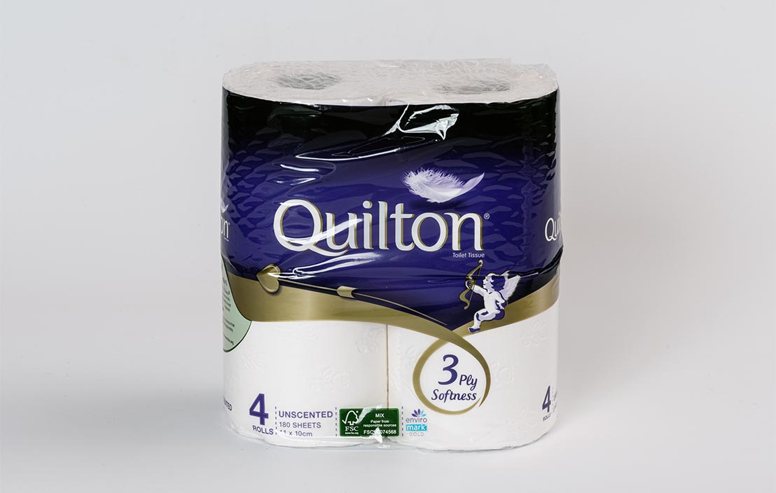 Quilton Toilet tissue (white unscented) (12 rolls)