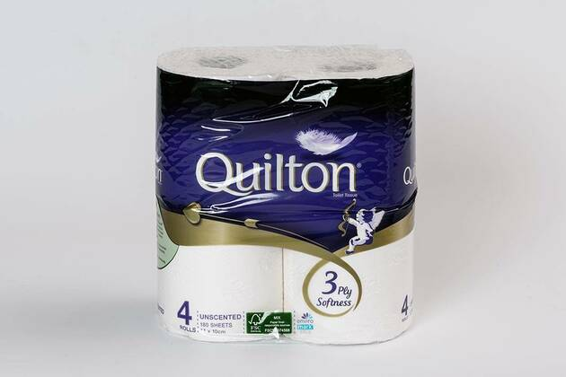 Quilton Toilet tissue (white unscented) (12 rolls)