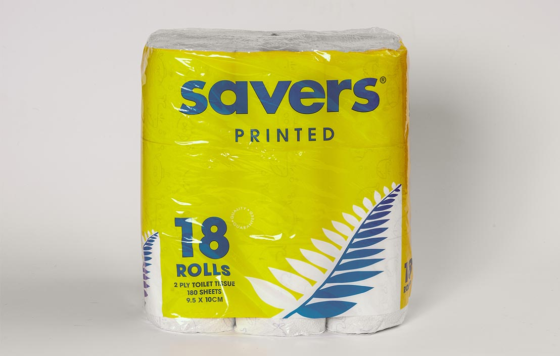 Savers Printed toilet tissue (18 rolls)