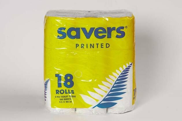Savers Printed toilet tissue (18 rolls)