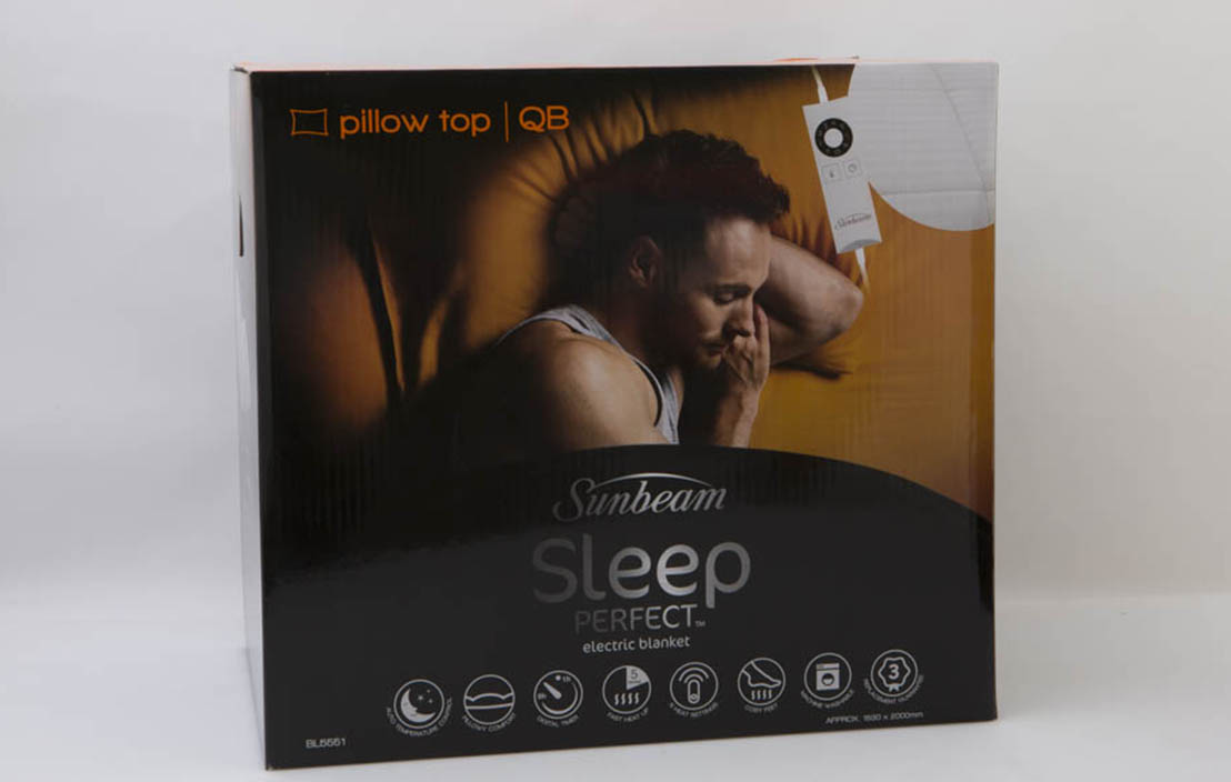 Sunbeam Sleep Perfect Electric Blanket, Pillow Top BL5551